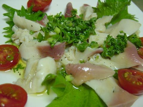 ホッキ貝のカルパッチョ