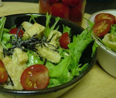 水菜と油揚げのサラダ.JPG