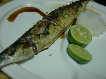 秋刀魚の塩焼き.JPG