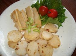 長いもと竹の子のバター焼き