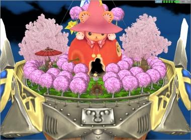 夜桜庭全景