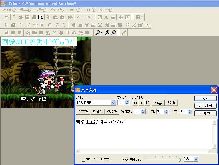 文字入れ2(*゚∀゚)=3