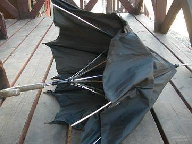 ズタズタの傘