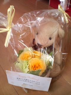 クマさんとお花