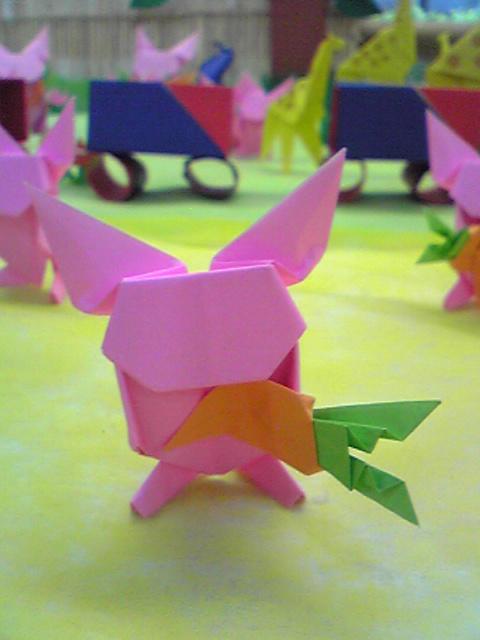 花 折り紙:うさぎ 折り紙 折り方-narobi.blog98.fc2.com