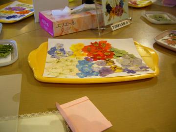 「花の夢美術館」で押し花作品を作ることに