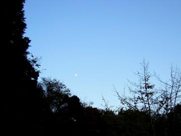 空には昼の月が