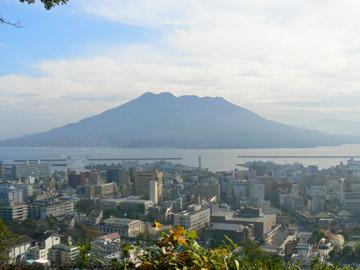 城山の展望台からの桜島