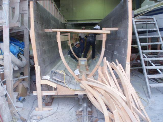 Blue laceの船体の木型