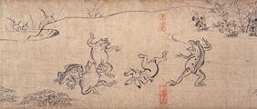鳥獣戯画甲 相撲