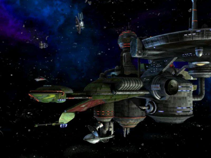 宇宙船で宇宙ステーションに到着したところ。宇宙が綺麗です。
