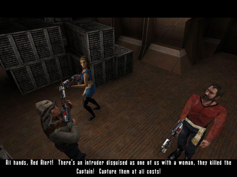 敵側のキャプテンを殺したことにより、返送がすっかりばれてしまったところ。この直後はお決まりの戦闘(笑