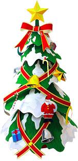 ペーパークラフト クリスマスツリー