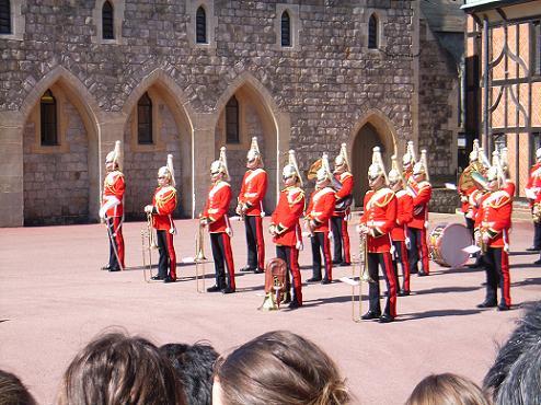 ウィンザー城での衛兵交代 1