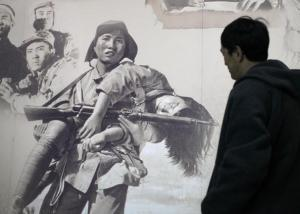 抗日戦争博物館の壁画=2006年12月27日、北京で