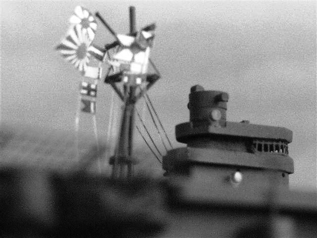 マストに翻る軍艦旗とZ旗