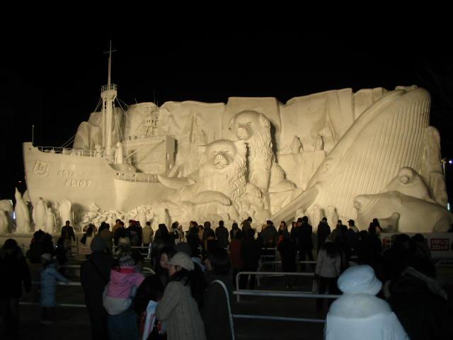 宗谷の雪像