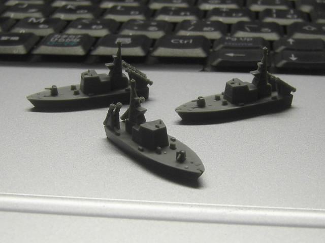 ミサイル艇1号型3隻