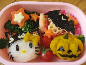 黒猫キティちゃん弁当