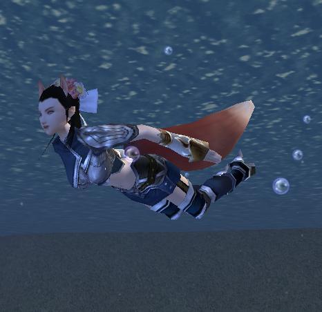 さっそく水の中へ