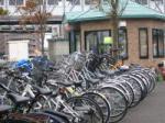 青森駅隣の無料駐輪場