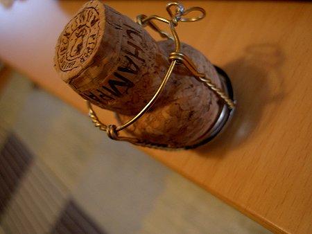 プレゼントのコルク栓。
