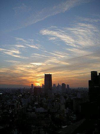 東京タワーより夕暮時の街を望む01.