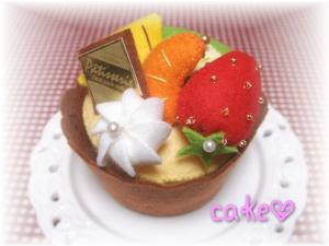 フェルトのカップケーキ♪