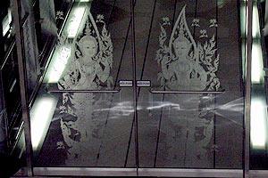 バンコクのガラス絵