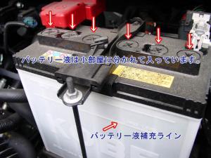 バッテリー液補充線