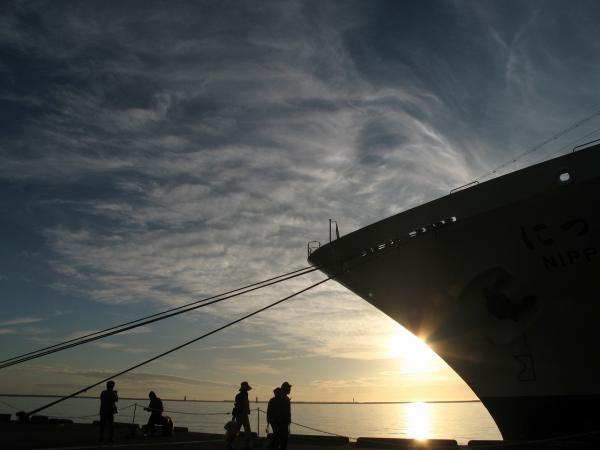 空・夕陽・海・船~♪