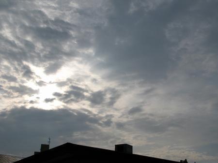 朝から雲かぁ~。。。