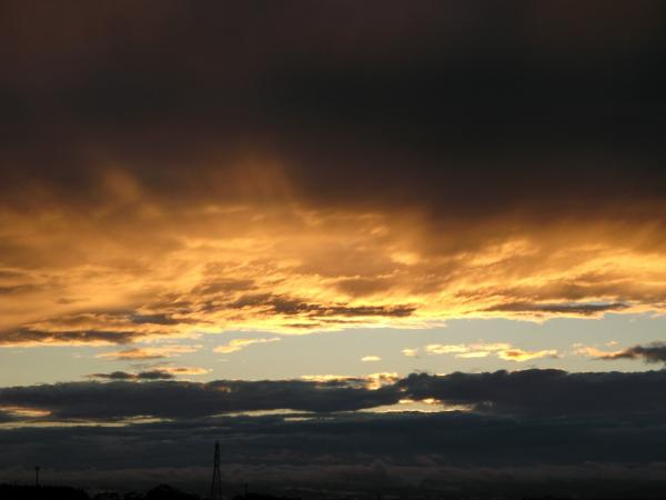 雲、染まる。。