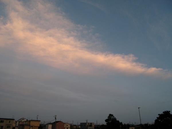 雲。。染まる。。