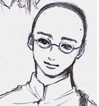 辮髪ラフ3