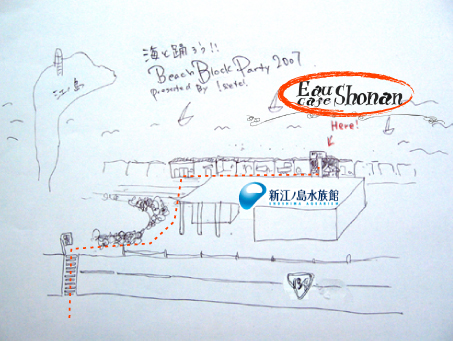 Eau Cafe Shonan map