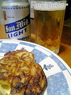 餃子とビール1