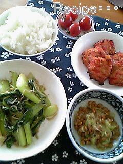チンゲン菜とジャコ炒め