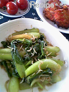 チンゲン菜とジャコ炒め1