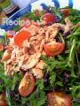 春菊と紫キャベツのツナサラダ