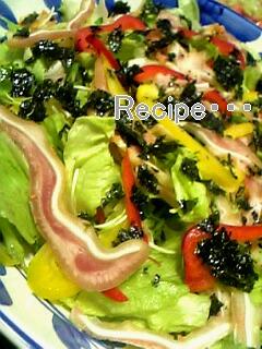 ミミガーと韓国のりのサラダ・・・