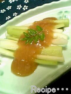 柚子胡椒の酢味噌♪