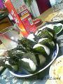 〆のおにぎり☆隣に、なぜか日本酒・・・