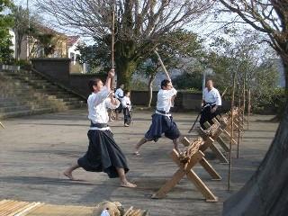 野太刀自顕流の稽古 2007.1.28