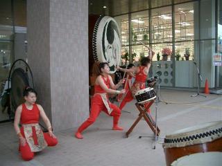 九面太鼓の演奏2007.2.9