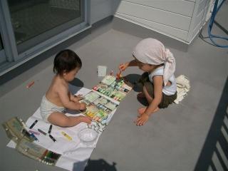 絵の具デビューです 2007.3.20