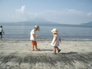 夏の桜島と一緒に 2007.8.4