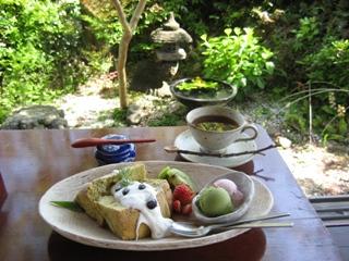 zenzai シフォンケーキセット 2007.4.29