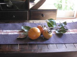 飾った柿の実 2007.10.28