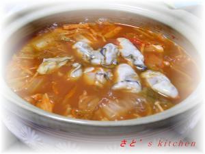 牡蠣キムチ鍋